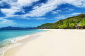 White sand beach. Malcapuya island, Philippines — Stock Photo