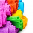 Rolls of various color paper on white background — Stock Photo #46573311