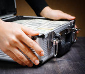 Storage and protection of cash and valuable items — Foto Stock