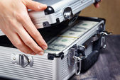 Storage and protection of cash and valuable items — Stockfoto