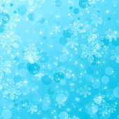 Blue Snowflake abstract background — Stock Photo