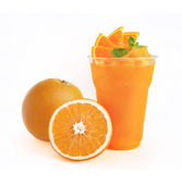 Orange Smoothie on white background — Stock Photo