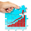 Last piece of jigsaw puzzle in business concept — Stock Photo #50440907