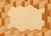утилизация бумага кубических абстрактный кадр с копией пространства — Стоковое фото
