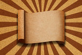 Blank Recycle Paper on Cor kboard background — Stock Photo