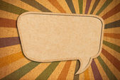 Speech bubble on Corkboard background — Stock Photo