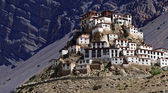Kee klasztor w górach himalajach — Zdjęcie stockowe