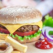 Stock Photo: Cheeseburger