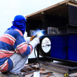 Welder man - Stock Photo