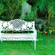 White bench - Stock Photo