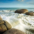 Waves crashing against rocks — Stock Photo #37812897