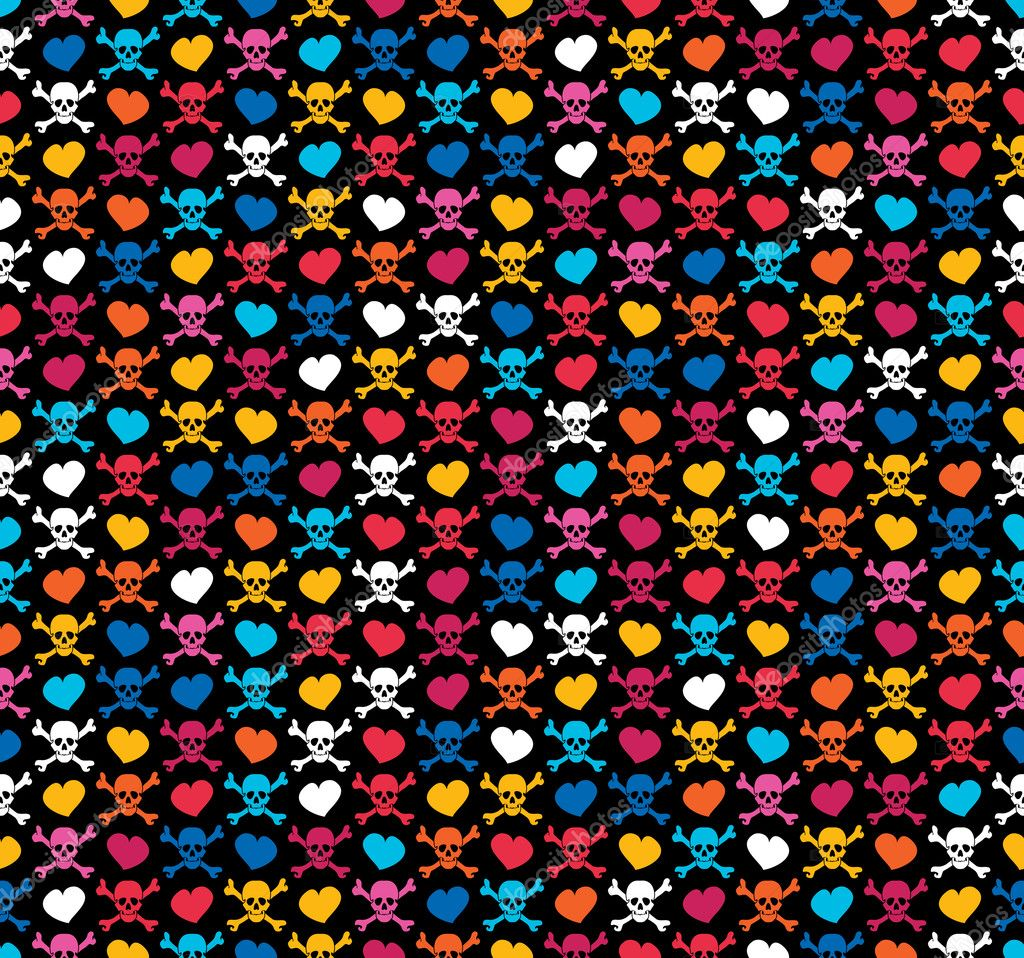 Colorful sugar skull background