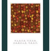 Cartão com flores coloridas — Vetor de Stock