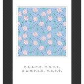 Karta s barevnými květy — Stock vektor