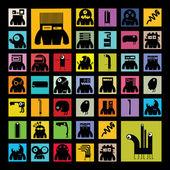 Monsters naadloze — Stockvector
