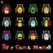 Set of twelve colorful monsters — Stock Vector #13692943