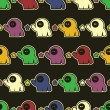 Monsters - seamless pattern — Image vectorielle
