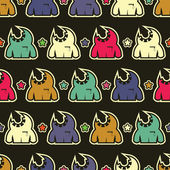 Monsters - seamless pattern — Stock Vector