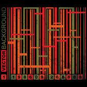 Grunge barcode background — Stock Vector