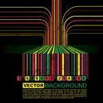 Grunge barcode background - vector — Stock Vector