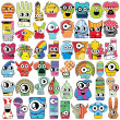Monsters - Stock Vector