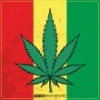 Постер, плакат: Rastafarian reggae flag with marijuana