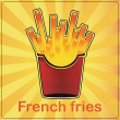 French fries — Vector de stock #16313727