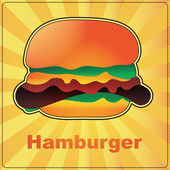 Hamburger — Vector de stock