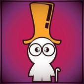 Viejo muy gracioso en sombrero — Vector de stock