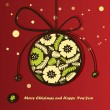 New year card with Christmas Toy - Imagen vectorial