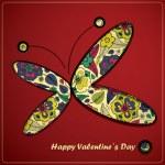 День Святого Валентина карты — Cтоковый вектор