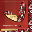 Card for Valentines Day — Vector de stock #17153793