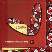 Card for Valentines Day — Stock Vector