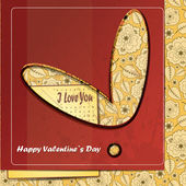 Valentines Day card with red background — Stock Vector