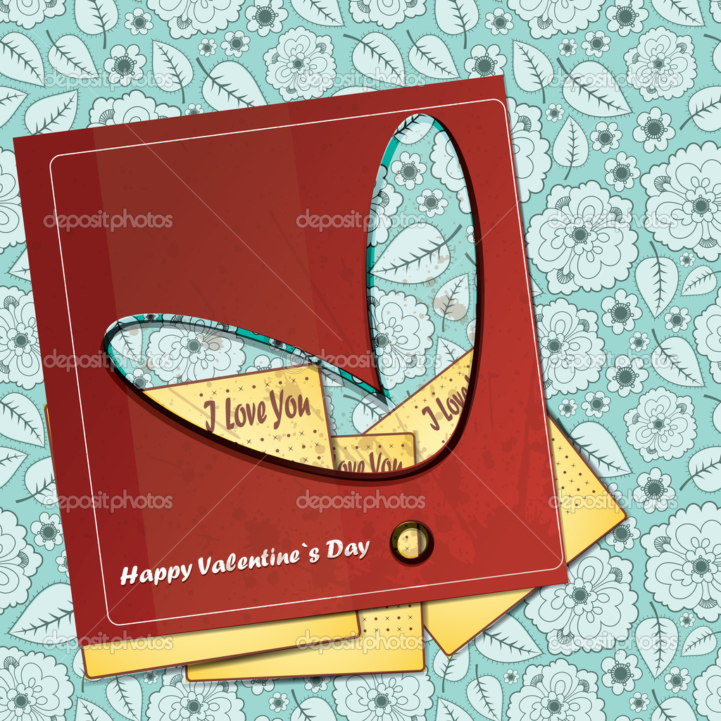 Card for Valentines Day — Stock Vector #17153469