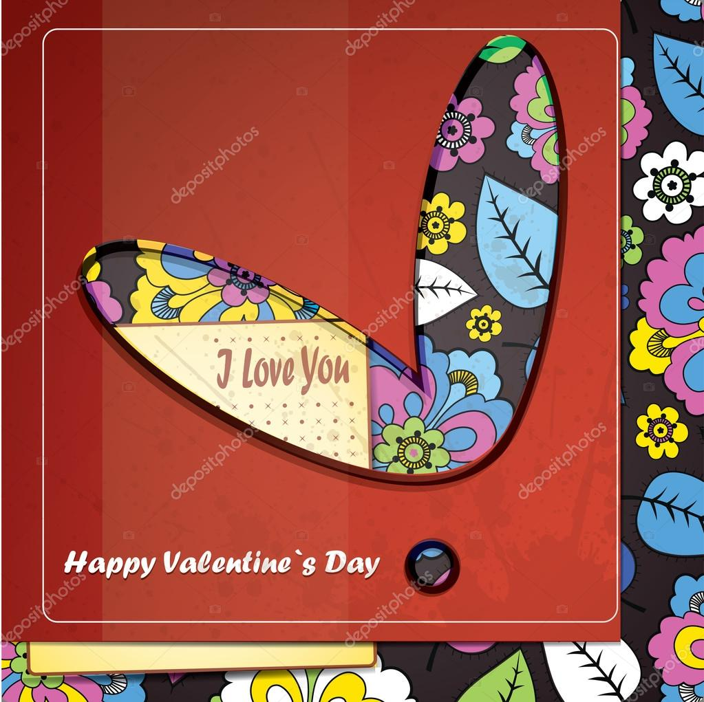 Card for Valentines Day — Stock Vector #17153571
