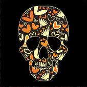 Cráneo colorido — Vector de stock