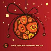 Yeni yıl kartı — Stok Vektör