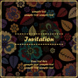 Floral invitation — Image vectorielle