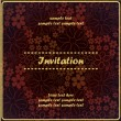 Floral invitation — Stock Vector #18137689