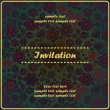 Floral invitation — Stock Vector #18137711