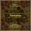 Invitation floral card — Image vectorielle