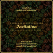 Invitation floral card — Stockvectorbeeld