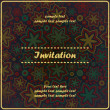 Invitation card with decorative elements - Stock Vector