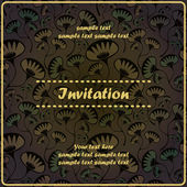 Invitation floral card — Stock Vector