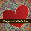 Royalty-Free Stock Vector Image: Valentines Day card with flowers background