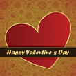Valentines Day card with flowers and leafs background — Imagen vectorial