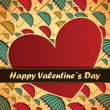 Valentines Day card with umbrella background — Stock vektor