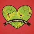 Valentines Day card with leafs background — Image vectorielle