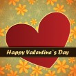 Valentines Day card with flowers and leafs background — Stock vektor